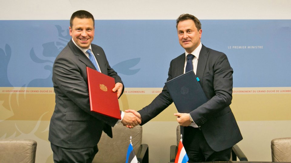 Prime Ministers of Luxembourg and Estonia